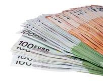 евро замечает отражение Стоковая Фотография RF