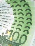 евро замечает отражение Стоковое Изображение