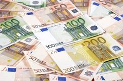 евро замечает отражение Стоковая Фотография