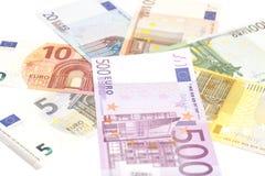 евро замечает отражение Стоковое фото RF