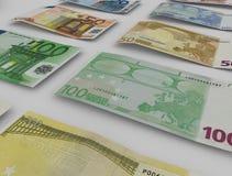 евро замечает отражение Стоковые Фотографии RF