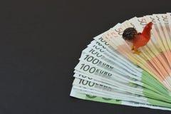 евро замечает отражение Стоковые Изображения RF
