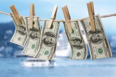 евро засыхания чистки laundering деньги вверх моя Стоковые Фотографии RF