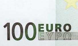 100 евро, зеленый цвет Стоковая Фотография