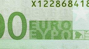 100 евро, зеленый цвет Стоковые Фотографии RF