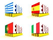 евро-зона кризиса Стоковые Фото