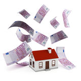 Евро ипотеки дома Стоковое Изображение