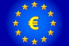 Евро и звезды бесплатная иллюстрация