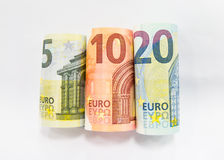 Евро 5, 10 и 20 Стоковые Изображения