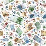 Евро как безшовное Стоковое Изображение RF