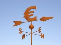 Евро как ржавый Weathercock иллюстрация штока