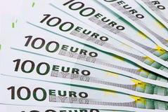 евро кредиток предпосылки Стоковые Изображения