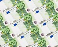 евро кредиток предпосылки Стоковое Фото