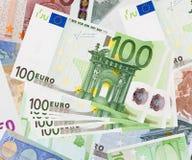 евро кредиток предпосылки Стоковая Фотография