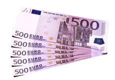 евро кредиток предпосылки Стоковая Фотография RF