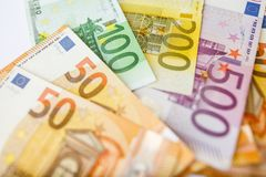 евро кредиток различное Стоковое Изображение RF