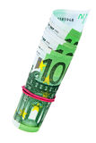 евро кредиток 100 одного крена Стоковое Изображение RF