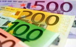 евро кредиток Стоковая Фотография RF