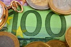 евро кредитки 100 одних Стоковые Фотографии RF