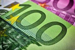 евро кредитки 100 одних Стоковые Фото