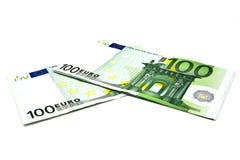 евро кредитки 100 одних Стоковое Изображение RF