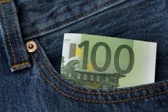евро кредитки 100 одних Стоковое фото RF