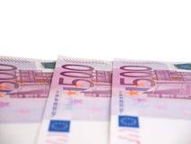 евро 500 кредиток изолировало белизну Стоковое Изображение RF