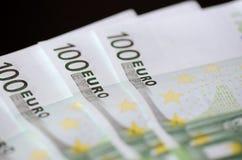 евро кредиток 100 одних Стоковые Фотографии RF