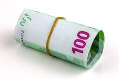 евро кредиток 100 одного крена Стоковое Изображение