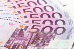 евро 500 кредиток Стоковое фото RF