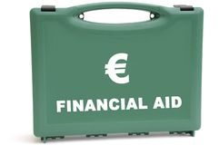евро кризиса финансовохозяйственное Стоковые Фотографии RF