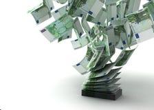 Евро летания иллюстрация штока
