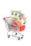 Евро магазинной тележкаи Стоковые Изображения