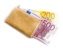 евро много бумажник Стоковые Фото