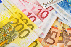 евро много деньги Стоковое Изображение RF