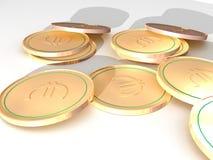 евро много Стоковые Фотографии RF