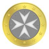 евро монетки мальтийсное иллюстрация вектора