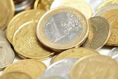 евро монетки цента Стоковая Фотография