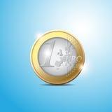 евро монетки иллюстрация вектора
