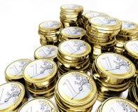 евро монетки 3d Стоковые Изображения