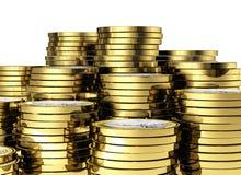 евро монетки 3d иллюстрация вектора