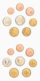 евро монетки Стоковое Изображение
