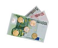 евро монеток кредиток Стоковые Изображения
