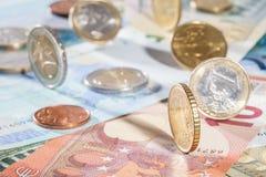 евро монеток кредиток много Стоковые Фотографии RF