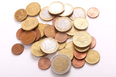 Евро монеток Стоковые Фото