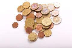 Евро монеток Стоковые Изображения