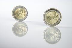 евро 2 монеток Стоковые Изображения