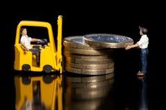 евро нагружая вверх Стоковая Фотография