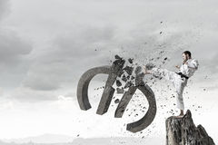 Евро нападения человека карате Стоковое Изображение