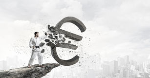 Евро нападения человека карате Стоковая Фотография RF